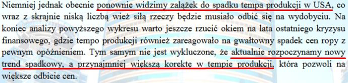 Fragment z 3 strony raportu