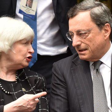 Yellen i Draghi kończą gorący rok banków centralnych